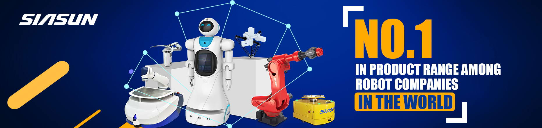 in product range among robot companies in the world